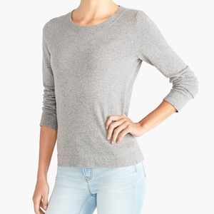 J crew cotton wool basic teddie sweater